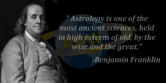 Benjamin Franklin uses astrology